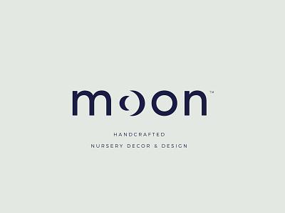Moon Logo Design nursery decor baby decor moon branding moon icon moon design moon logo moon negative space logo negative space smart logo cleverlogo simplicity typography logodesign logo design branding