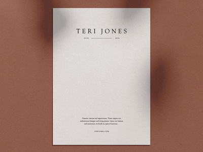 Teri Jones Logo Development