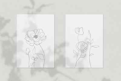 Minimalist Botanical Line Sketches