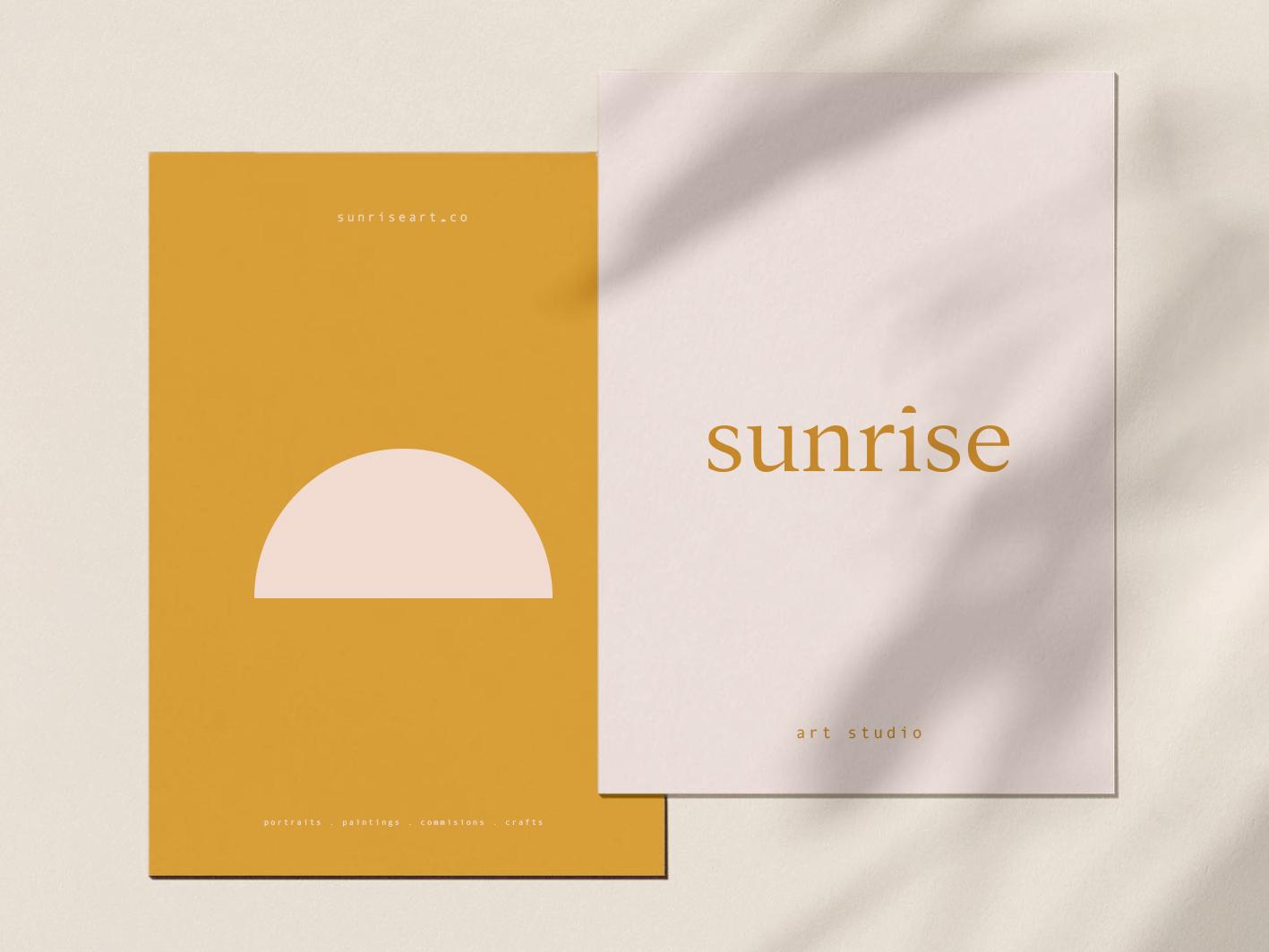 Sunrise Brand Design icon symbol minimal minimalism artist branding art studio summer sushine sun sunrise illustration cleverlogo logomarks font simplicity logodesign typography logo design branding