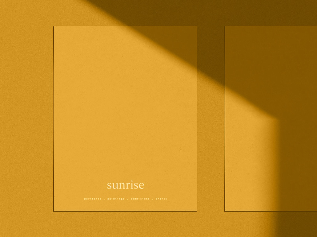 Sunrise Branding sun sunny sunshine sunrise bright mustard yellow simplicity logodesign typography logo design branding