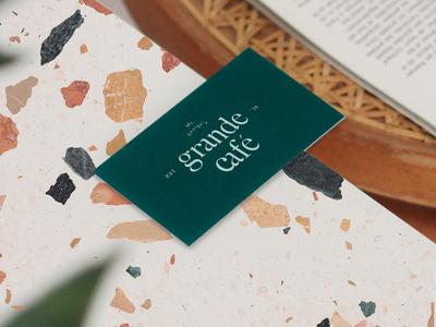 grandé café branding