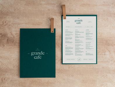 grandé café menu design