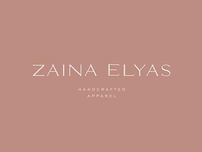 zaina elyas logo design (custom typography) fashion brand abayas apparel branding apparel logo fashion elegant font simplicity typography logodesign logo design branding