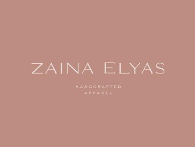 zaina elyas logo design (custom typography)