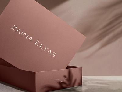 zaina elyas packaging design maroon identity logo design fashion branding apparel packaging box design packaging design