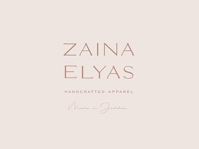 Zaina Elyas Secondary Logo Design pink feminine elegant logo typography stacked logo secondary logo logomark apparel logo fashion branding fashion brand logo design