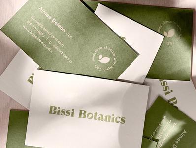 Bissi Botanics Business Card Design business cards skincare branding cbd skincare botanics vector illustration botanical cleverlogo font simplicity logodesign typography logo design branding