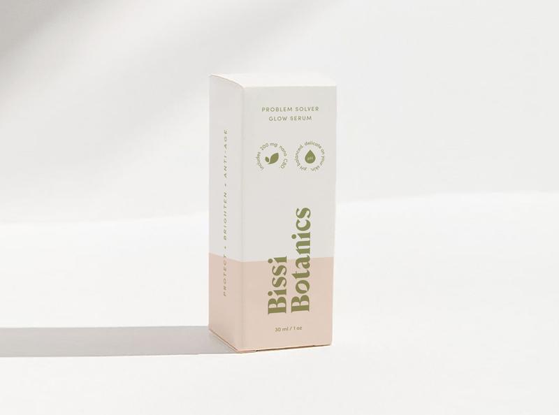 Bissi Botanics Serum Packaging Design skincare cbd skincare serum packaging botanical simplicity logodesign typography logo design branding