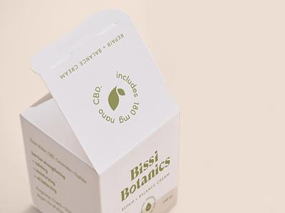 Bissi Botanics cbd skincare cream skincare packaging packaging design cream nano cbd cbd skincare skincare cbd botanical simplicity logodesign typography logo design branding