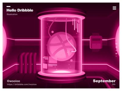 Hello Dribbble dribbble ball dribbble app ux design ui illustration