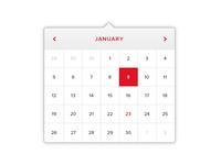 Calendar UI Element