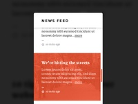 News feed rollover