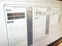 Early stage wireframes