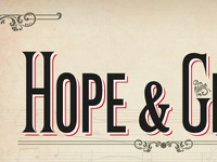 """Hope And Glory"" cover detail"