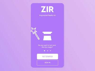 ZIR Animated Mobile Onboarding