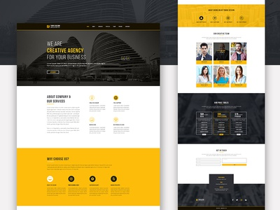 Twing DesignOne Page Psd Template