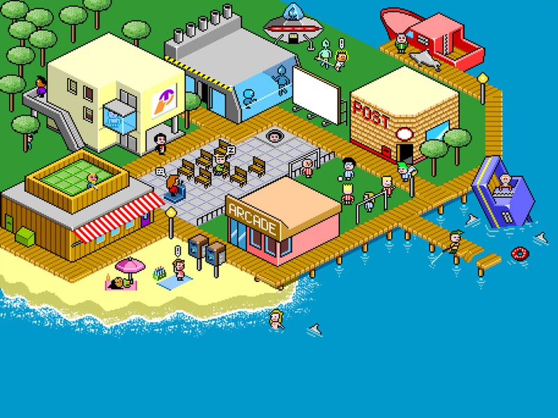 Pixel Art town '2001