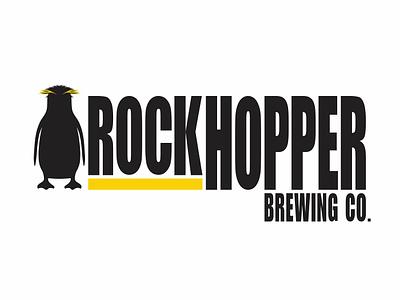 Rockhopper Logo brand craft brewery brewery logo brewery craft beer beer art beer character art penguin animal art illustration character creation vector logo