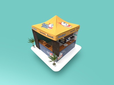 Scone Quest stall concept design catering mobilecatering exhibition design event artwork event gazebo stall event branding character art design color character creation brand food