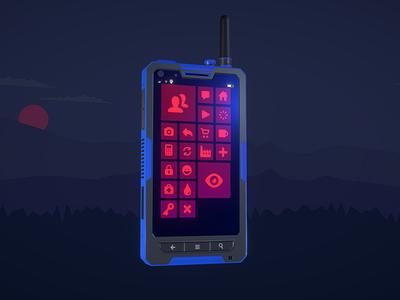 Muphrid phone smartphone model case phone product sketchfab blend4web blender 3d