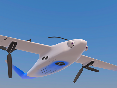 Marshopper drone creature eyes co2 robot planet concept aviation drone sketchfab blender 3d mars
