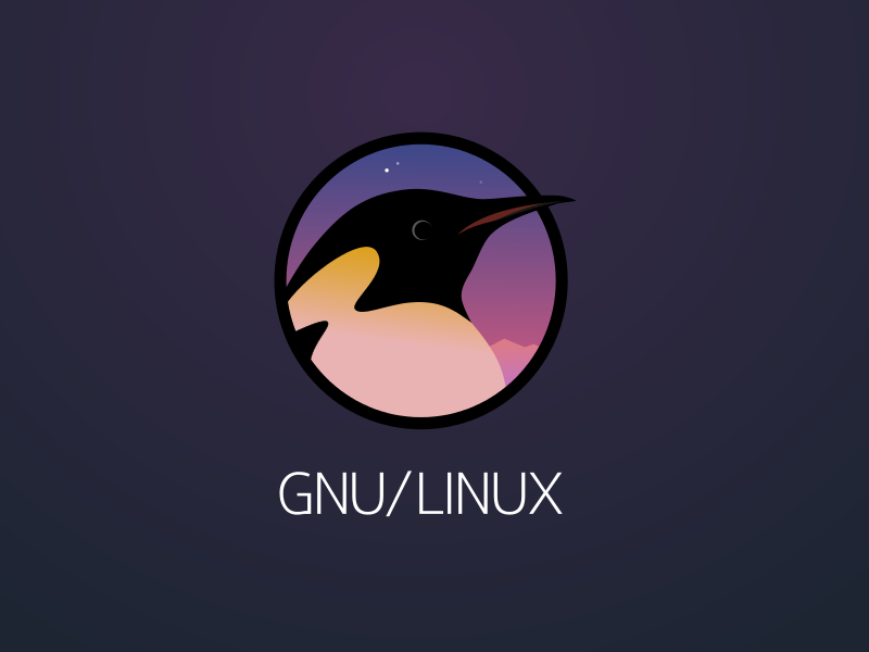 Linux logo by Andrey Larin on Dribbble