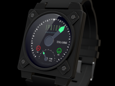Karmameter sketchfab waterproof industrialdesign karma design gauge 3d blender watch instrument