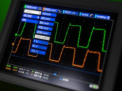 Oscilloscope GUI WIP instruments electronics blender render 3d ux design touchscreen screen pixel gui oscilloscope