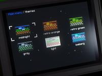 Oscilloscope themes screen