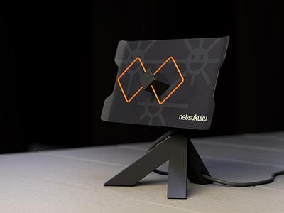 Netsukuku box cycles blender design product wifi netsukuku antenna biquad concept