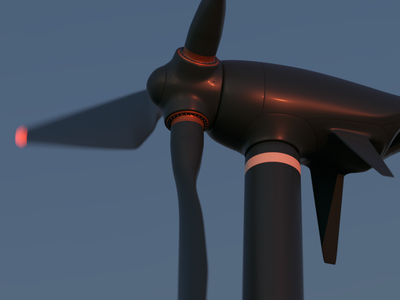 Windmill windmill wind prototype power electricity ecology design concept blender 3d