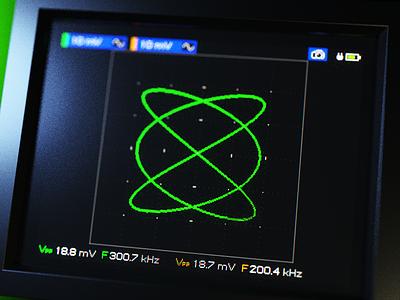 XY mode instrument lowres ux touch screen screen render oscilloscope gui design concept blender 3d