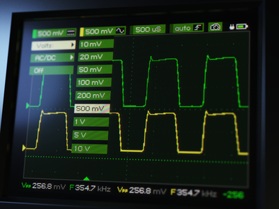 Oscilloscope green theme