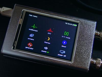 Hubscope prototype photo ui screen aluminum touchscreen pcb analogue measurement electronic instruments instrument oscilloscope gui