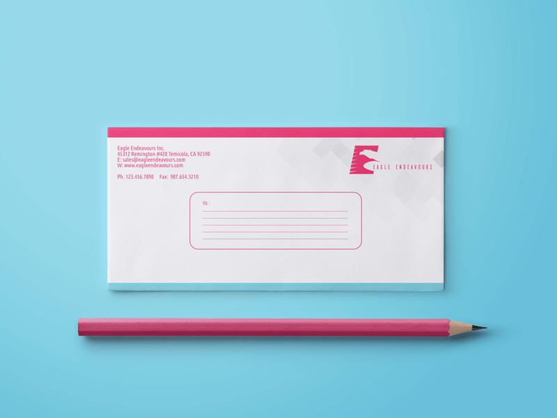 Envolop designe EAGLE ENDEVOURS business entrepreneur startups graphicsdesigner visitingcards letterhead envelopedesign envelope