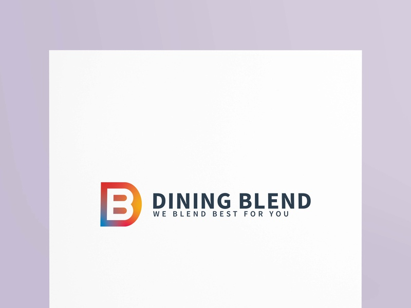 DINING BLEND marketing bussiness creative vectore branding logotype graphicsdesign logodesign logo