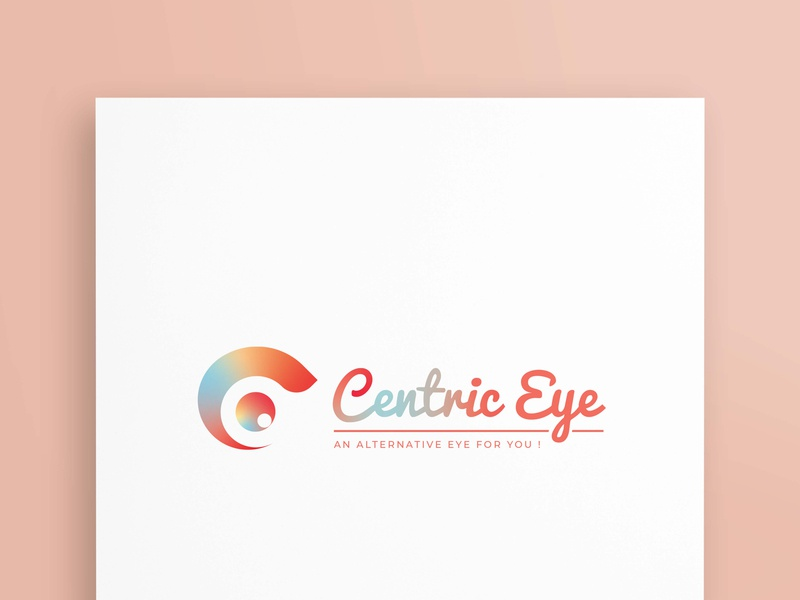 Centric Eye logo design illustratore bussiness branding creative vectore graphicsdesign logotype logodesign