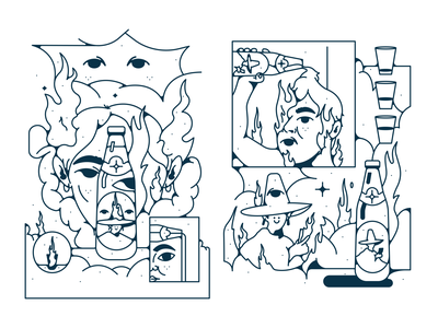 club mate vector illustration