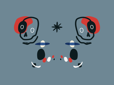 la muerte by myMiro branding sticker vector illustration design