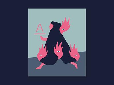 A | Arde design flat vector illustration