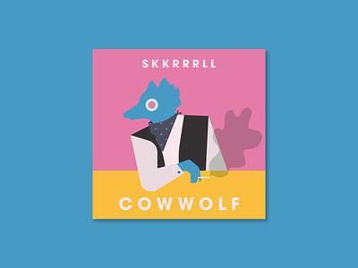 Wolf Skkkk vector logo branding flat design illustration