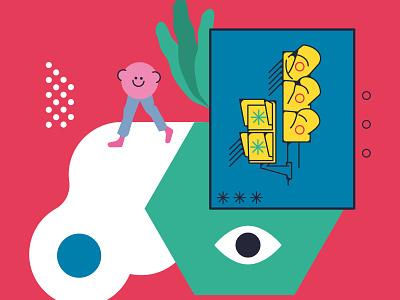 Barcelona Es Color design flat sticker vector illustration