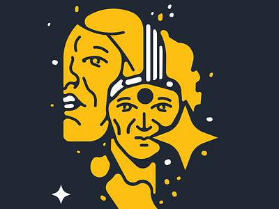 Magic Soul icon sticker design illustration vector