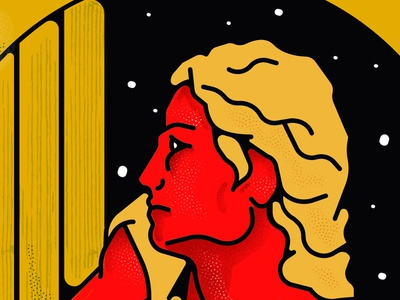 red branding sticker design vector illustration