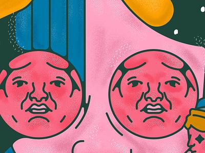 rosa animation icon sticker vector design illustration