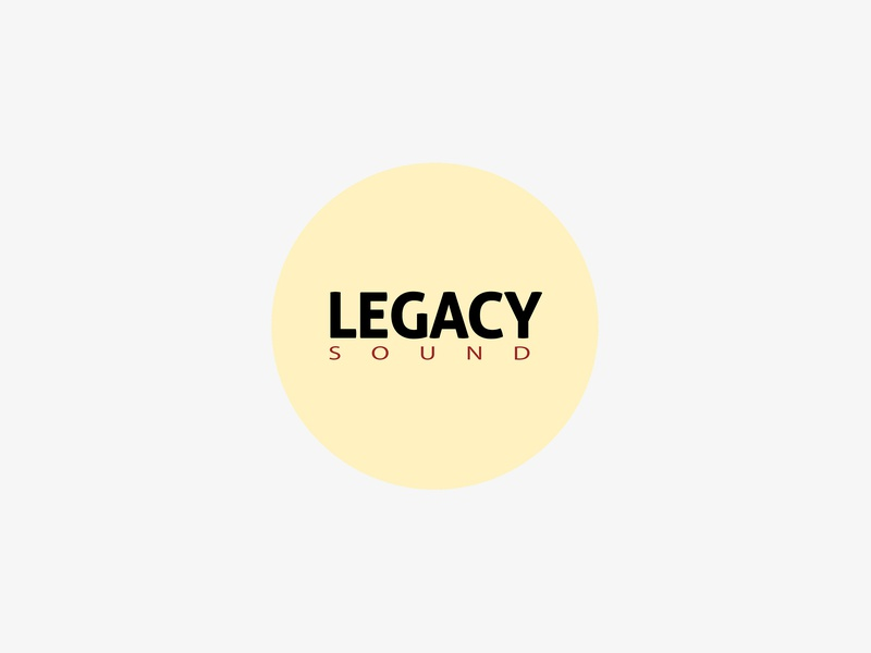 Logo - Legacy Sound outsourceyourgraphics dailygraphics serchisdesign serchiscreative serchis bass drum drumnbass record label dnb legacysound sound legacy branding logodesign logo