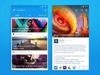 News feed & article UI