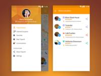 Drawer, social & location sharing