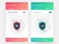VPN protection app UI concept